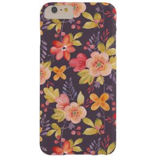 Caso más del iPhone 6 florales púrpuras modernos Funda De iPhone 6 Plus Barely There