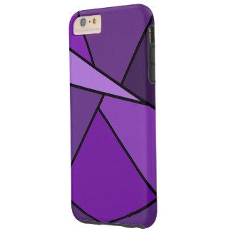 Caso más del iPhone 6 geométricos púrpuras de las Funda De iPhone 6 Plus Tough