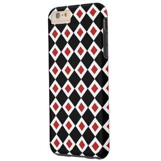 Caso más del iPhone 6 Negro-Blanco-Rojos del Funda Para iPhone 6 Plus Tough
