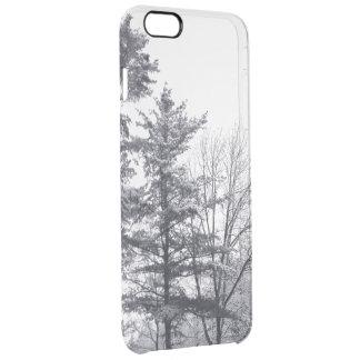 Caso más del iPhone 6 nevados de los árboles Funda Clearly™ Deflector Para iPhone 6 Plus De Unc