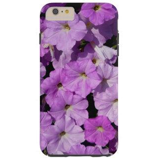 Caso más del iPhone 6 púrpuras de las petunias Funda Resistente iPhone 6 Plus