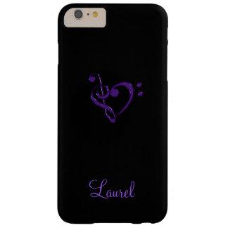 Caso más del iPhone 6 púrpuras del corazón del Funda Barely There iPhone 6 Plus