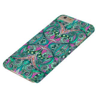 caso más del iPhone 6 que dibuja apenas Zentangle Funda De iPhone 6 Plus Barely There