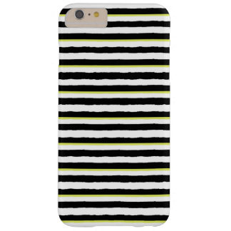 Caso MÁS del iPhone 6 rayados chartreuses blancos Funda Barely There iPhone 6 Plus