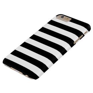 caso más del iPhone 6 - rayas intrépidas blancos y Funda Para iPhone 6 Plus Barely There
