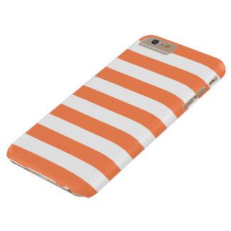 caso más del iPhone 6 - rayas intrépidas Funda Barely There iPhone 6 Plus