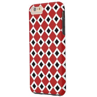 Caso más del iPhone 6 Rojo-Blanco-Negros del Funda Para iPhone 6 Plus Tough