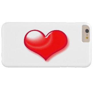 Caso más del iPhone 6 rojos del corazón Funda Para iPhone 6 Plus Barely There