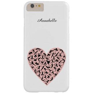 Caso más del iPhone 6 rosados bonitos del corazón Funda Para iPhone 6 Plus Barely There