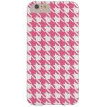 Caso más del iPhone 6 rosados de Houndstooth Funda De iPhone 6 Plus Barely There