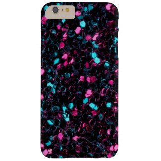 Caso más del iPhone 6 rosados y azules brillantes Funda De iPhone 6 Plus Barely There