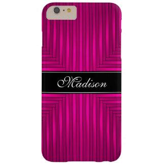 Caso más del iPhone 6 rosados y negros Funda De iPhone 6 Plus Barely There