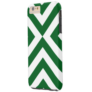 Caso más del iPhone 6 verde oscuro y blancos de Funda De iPhone 6 Plus Tough
