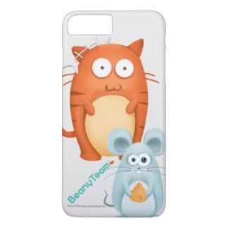 caso más del iPhone 7: BeanyTeam™ - gato y ratón Funda iPhone 7 Plus