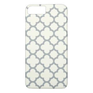 Caso más del iPhone 7 de Quatrefoil en gris Funda iPhone 7 Plus