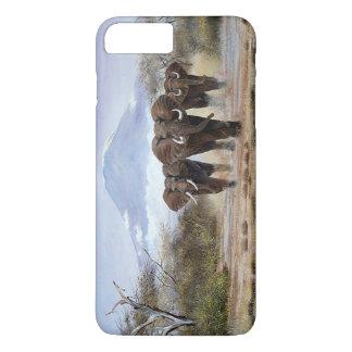 caso más del iPhone 7 del elefante de Kilimanjaro Funda iPhone 7 Plus