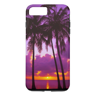 Caso más del iPhone 7 duros tropicales púrpuras de Funda iPhone 7 Plus
