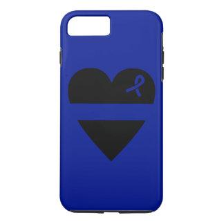 Caso más del iPhone 7 finos del corazón de Blue Funda iPhone 7 Plus