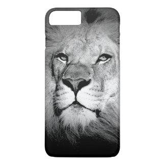 Caso más del iPhone 7 negros y blancos del león Funda iPhone 7 Plus
