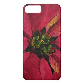 Caso más del iPhone 7 rojos del Poinsettia Funda iPhone 7 Plus