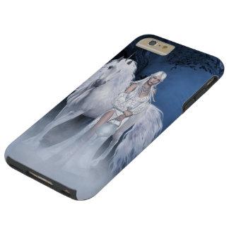 Caso más del iPhone blanco 6 duros de la señora y Funda De iPhone 6 Plus Tough