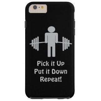 caso más del levantamiento de pesas del iPhone 6 Funda De iPhone 6 Plus Tough