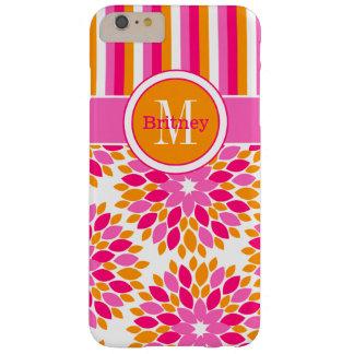 caso más el | floral, naranja rosado del iPhone 6 Funda De iPhone 6 Plus Barely There