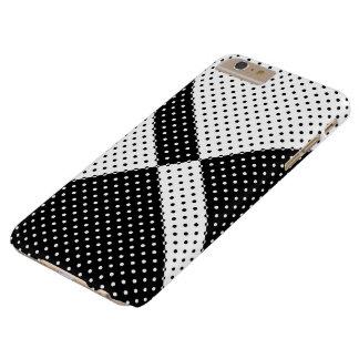 caso más Polkadots blanco y negro del iPhone 6 Funda De iPhone 6 Plus Barely There