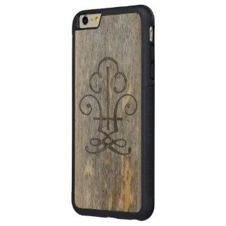 Caso más tallado madera envejecido del iPhone 6 Funda De Arce Bumper Carved® Para iPhone 6 Plus