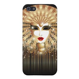 Caso mate del iPhone 5 de oro del carnaval de la m iPhone 5 Carcasas