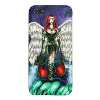 Caso mate esmeralda del iPhone 5/5s del ángel por  iPhone 5 Funda