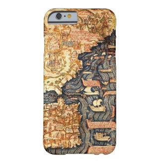 Caso medieval del iPhone del mapa Funda Barely There iPhone 6