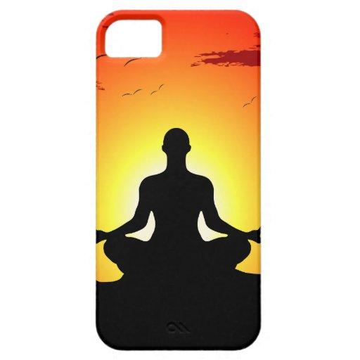 Caso Meditating del iPhone 5 de la sol de la yoga iPhone 5 Funda