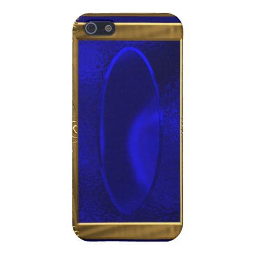 Caso metálico del iPhone 4 del modelo del oro iPhone 5 Fundas