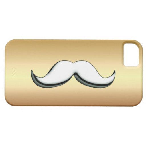 Caso metálico del iPhone 5 del oro blanco de plata Funda Para iPhone SE/5/5s