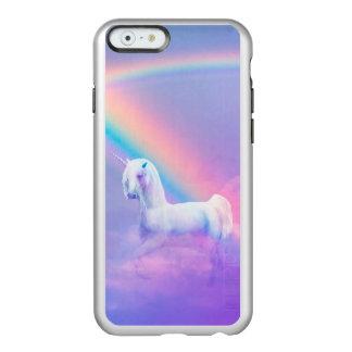Caso metálico del iPhone 6 del unicornio Funda Para iPhone 6 Plus Incipio Feather Shine