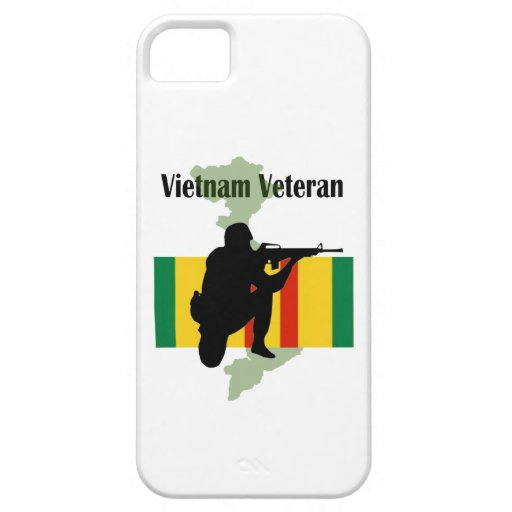 """Caso militar de IPhone 5 del veterano de Vietnam"" iPhone 5 Fundas"