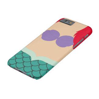 Caso minimalista del iPhone 6 de la sirena Funda Barely There iPhone 6