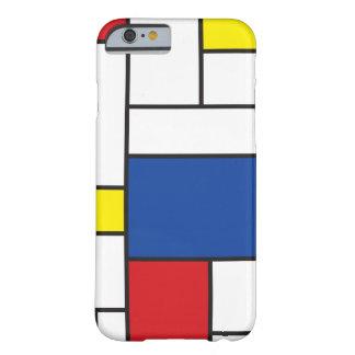 Caso minimalista del iPhone 6 del arte de Mondrian Funda De iPhone 6 Barely There