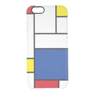 Caso minimalista del iPhone 6 del arte de Mondrian Funda Clearly™ Deflector Para iPhone 6 De Uncommon