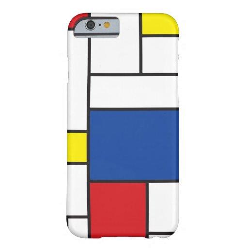 Caso minimalista del iPhone del arte de Mondrian Funda Barely There iPhone 6