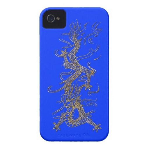Caso mítico del iPhone del oro de la fantasía Case-Mate iPhone 4 Cobertura