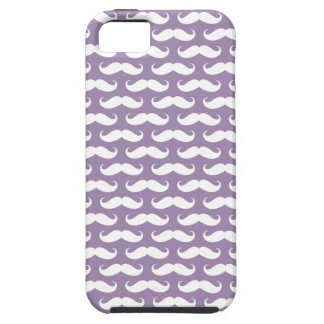 Caso modelado bigote púrpura del iPhone 5 de la iPhone 5 Fundas