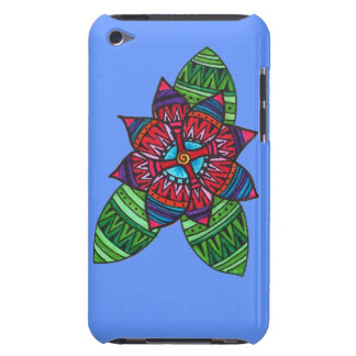 Caso modelado del tacto de iPod de la flor (azul) iPod Case-Mate Cárcasas