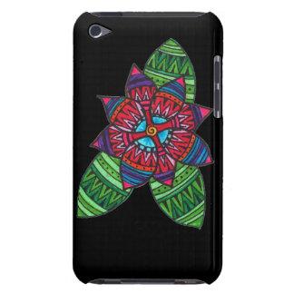 Caso modelado del tacto de iPod de la flor (negro) iPod Case-Mate Cárcasa