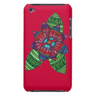 Caso modelado del tacto de iPod de la flor (rojo) Case-Mate iPod Touch Cárcasas