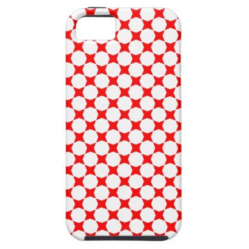 Caso modelado estrellas del iPhone 5 del rojo iPhone 5 Case-Mate Fundas