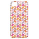 Caso modelado floral retro iPhone 5 carcasa