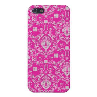 Caso modelado rosa del iPhone iPhone 5 Carcasas