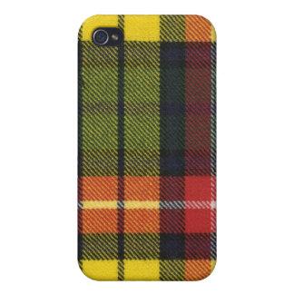 Caso moderno del iPhone 4 del tartán de Buchanan iPhone 4 Coberturas